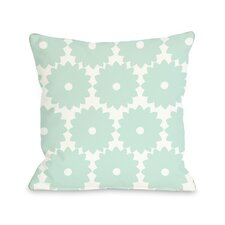 Gia Flower Print Throw Pillow