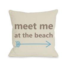 Meet Me at the Beach  Pillow