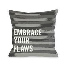 Embrace Your Flaws Stripe Pillow