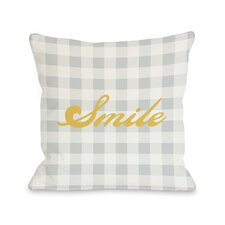 Smile Gingham Pillow