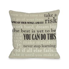 You Can Do This Pillow