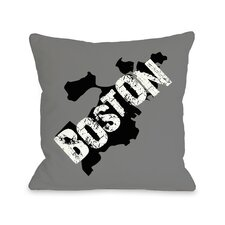 Boston City Silohuette Pillow