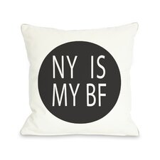 NY Is My BF Circle Pillow