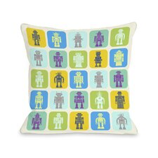 Timmy's Robot Collection Pillow