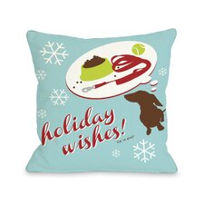 Doggy Décor Holiday Wishes Dog Pillow