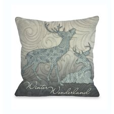 Winter Wonderland Reindeer Pillow