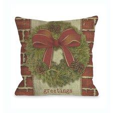 Greetings Wreath Pillow