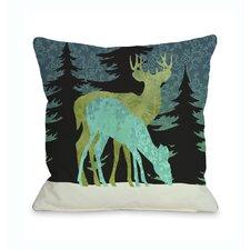 Silent Night Reindeer Pillow