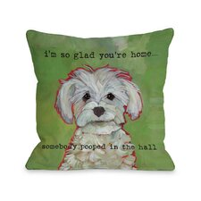 Doggy Décor Somebody Pooped Pillow