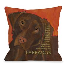 Doggy Décor Labrador 2 Throw Pillow