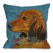 Doggy Décor Daschund 4 Throw Pillow