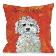 Doggy Décor Mommy's Little Boy Pillow