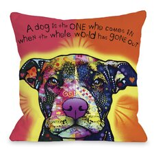 Doggy Décor Love A Bull with Text Throw Pillow