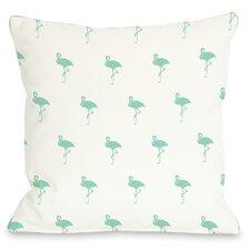 All Over Flamingo Pillow