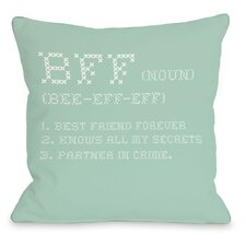 BFF Cross Stitch Pillow