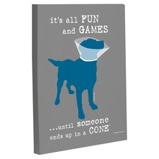 Doggy Decor Fun and Games Graphic Art on Canvas