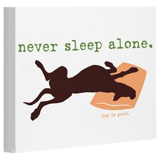 Doggy Decor Never Sleep Alone White Graphic Art on Canvas