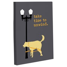 Doggy Decor Unwind Dog Graphic Art on Canvas