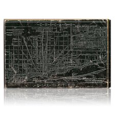 """Chicago Railroad"" Graphic Art on Canvas"