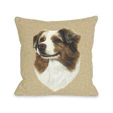 Doggy Décor Australian Shepherd Head Pillow