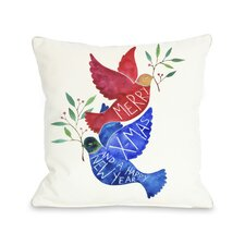 Merry Xmas Birds Pillow