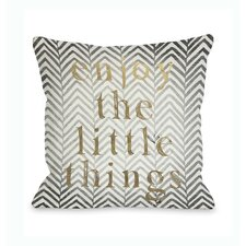Enjoy The Little Things Chevron Pillow