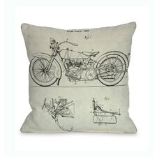 Harley 1928 Blueprint Pillow