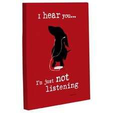Doggy Decor Just Not Listening Graphic Art on Canvas