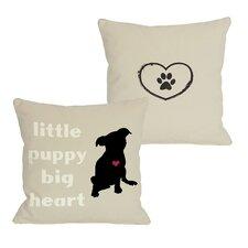 Doggy Décor Little Puppy Big Heart Pillow