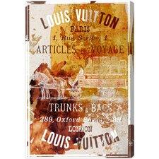 Articles De Voyage Vintage Advertisement on Canvas