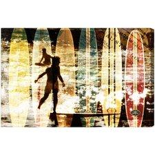 Surfing Australia Graphic Art on Canvas