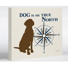 <strong>OneBellaCasa.com</strong> Dog True North Wall Decor