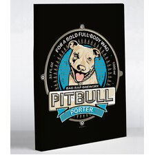 Doggy Decor Pitbull Porter Graphic Art on Canvas
