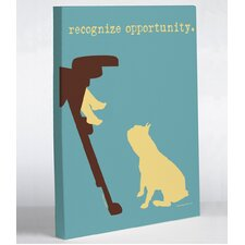Doggy Decor Opportunity Graphic Art on Canvas