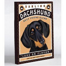 <strong>OneBellaCasa.com</strong> Darling Dachshund Canvas Wall Decor
