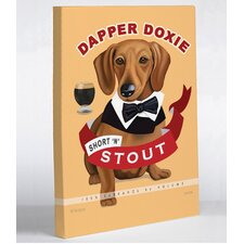 Dapper Doxie Canvas Wall Decor