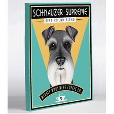 <strong>OneBellaCasa.com</strong> Schnauzer Supreme Canvas Wall Decor