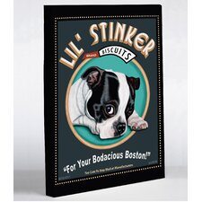 Doggy Decor Lil Stinker Graphic Art on Canvas