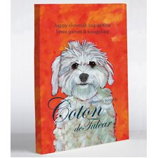 Doggy Decor Coton 1 Graphic Art on Canvas