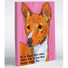 Doggy Decor Be So Happy Graphic Art on Canvas