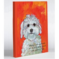 Doggy Decor Girl's Best Friend Graphic Art on Canvas