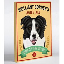 Doggy Decor Brilliant Border Graphic Art on Canvas