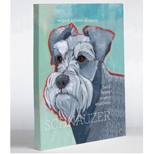 Doggy Decor Schnauzer 1 Graphic Art on Canvas