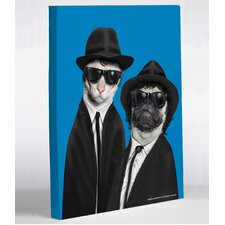 <strong>OneBellaCasa.com</strong> Pets Rock Brothers Canvas