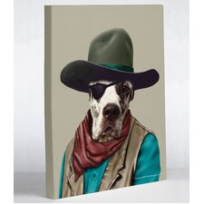 Pets Rock Cowboy Graphic Art on Canvas