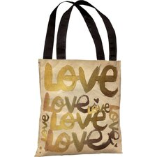 Oliver Gal Four Letter Word Polyester Tote Bag
