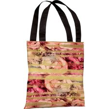 Oliver Gal Field of Roses Polyester Tote Bag