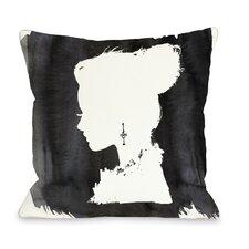 Beaute Throw Pillow in Black & White