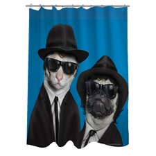 Pets Rock Brothers Polyester Shower Curtain