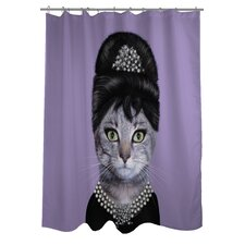 <strong>OneBellaCasa.com</strong> Pets Rock Breakfast Polyester Shower Curtain